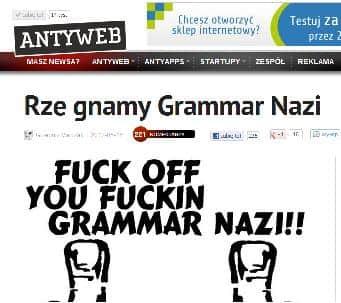 Grammar nazi? Co o tym sądzicie?